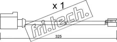 Fri.Tech. SU-271 - Προειδοπ. επαφή, φθορά υλικού τριβής των φρένων asparts.gr