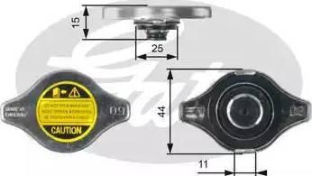 Gates RC127 - Τάπα κλεισίματος, ψύκτης asparts.gr