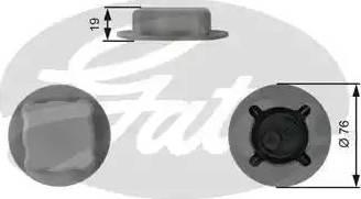 Gates RC206 - Τάπα κλεισίματος, δοχείο ψυκτικού υγρού asparts.gr