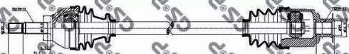 GSP 250002 - Άξονας μετάδοσης κίνησης asparts.gr