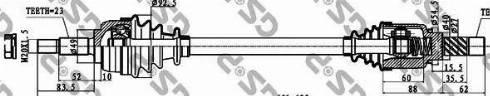 GSP 250369 - Άξονας μετάδοσης κίνησης asparts.gr