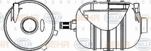 HELLA 8MA 376 702-324 - Δοχείο διαστολής, ψυκτικό υγρό asparts.gr