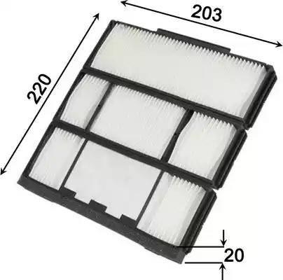 JS Asakashi AC1501 - Φίλτρο, αέρας εσωτερικού χώρου asparts.gr