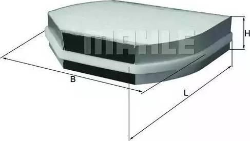 Mahle Original LA 37/1 - Φίλτρο, αέρας εσωτερικού χώρου asparts.gr