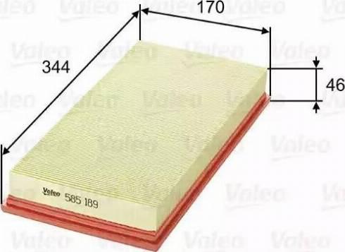 Valeo 585189 - Φίλτρο αέρα asparts.gr