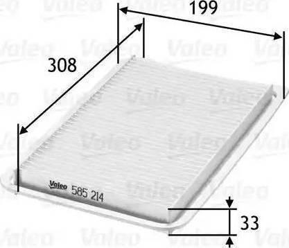 Valeo 585214 - Φίλτρο αέρα asparts.gr