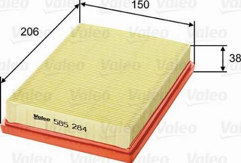 Valeo 585284 - Φίλτρο αέρα asparts.gr