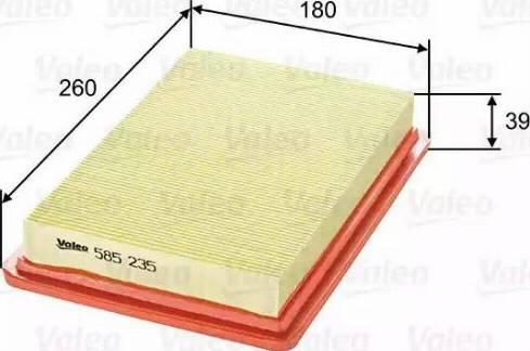 Valeo 585235 - Φίλτρο αέρα asparts.gr