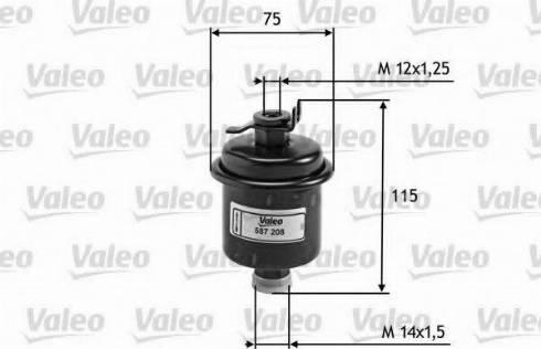 Valeo 587208 - Φίλτρο καυσίμου asparts.gr