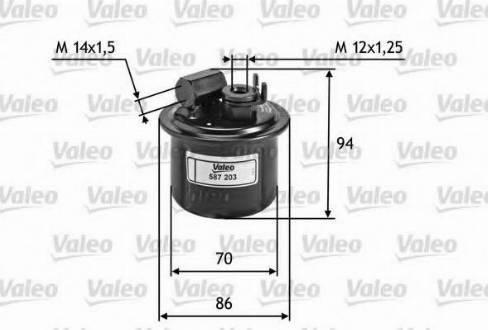 Valeo 587203 - Φίλτρο καυσίμου asparts.gr