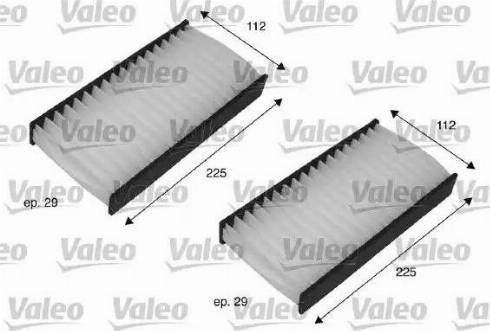 Valeo 698735 - Φίλτρο, αέρας εσωτερικού χώρου asparts.gr